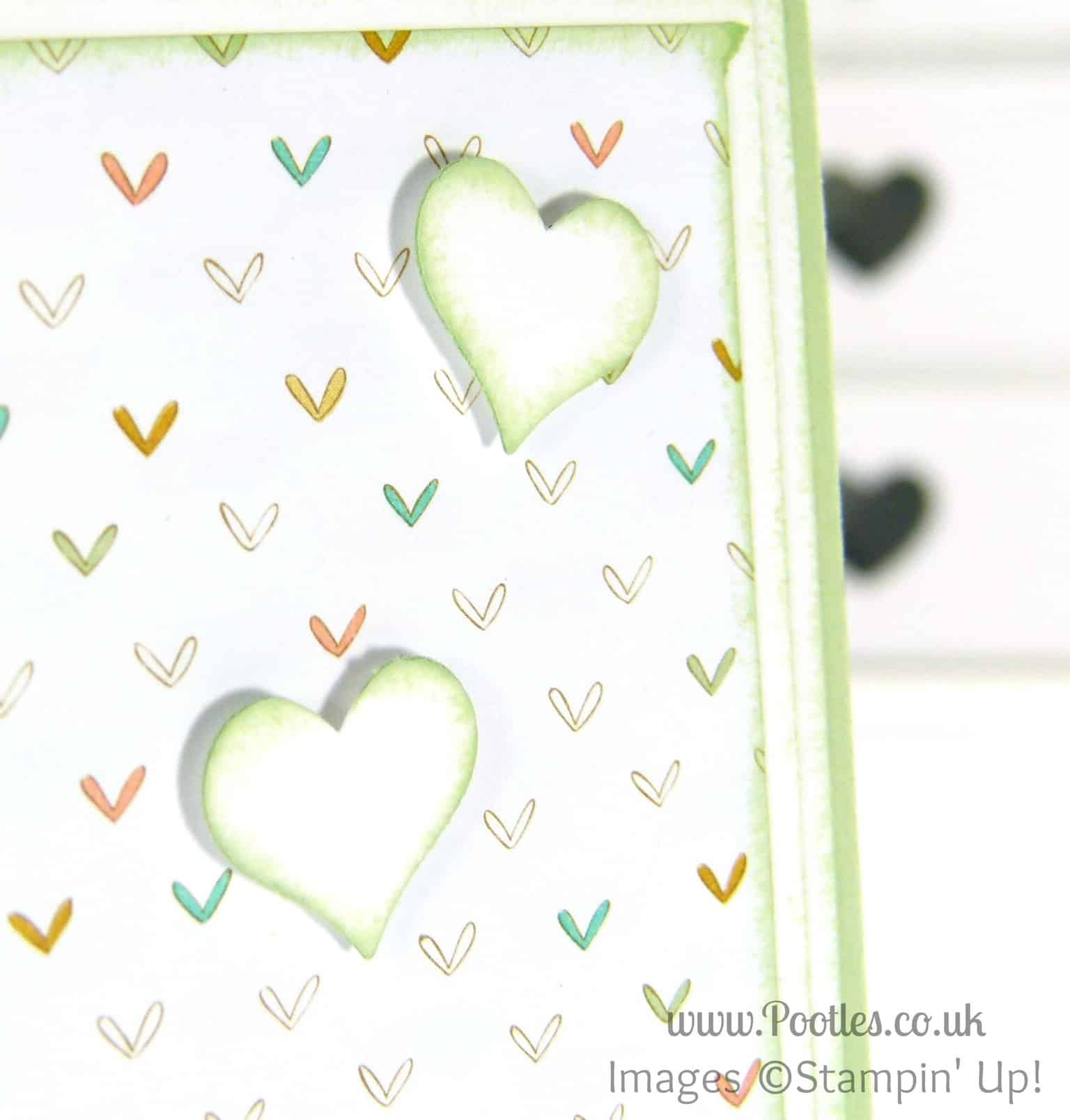 Stampin' Up! UK Pootles - Lullaby Baby We've Grown Punching Detail