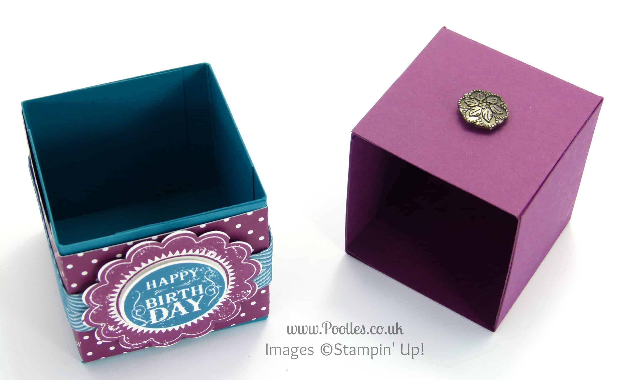 Stampin' Up! UK Pootles - Pull Top Box or Drawer Tutorial Open