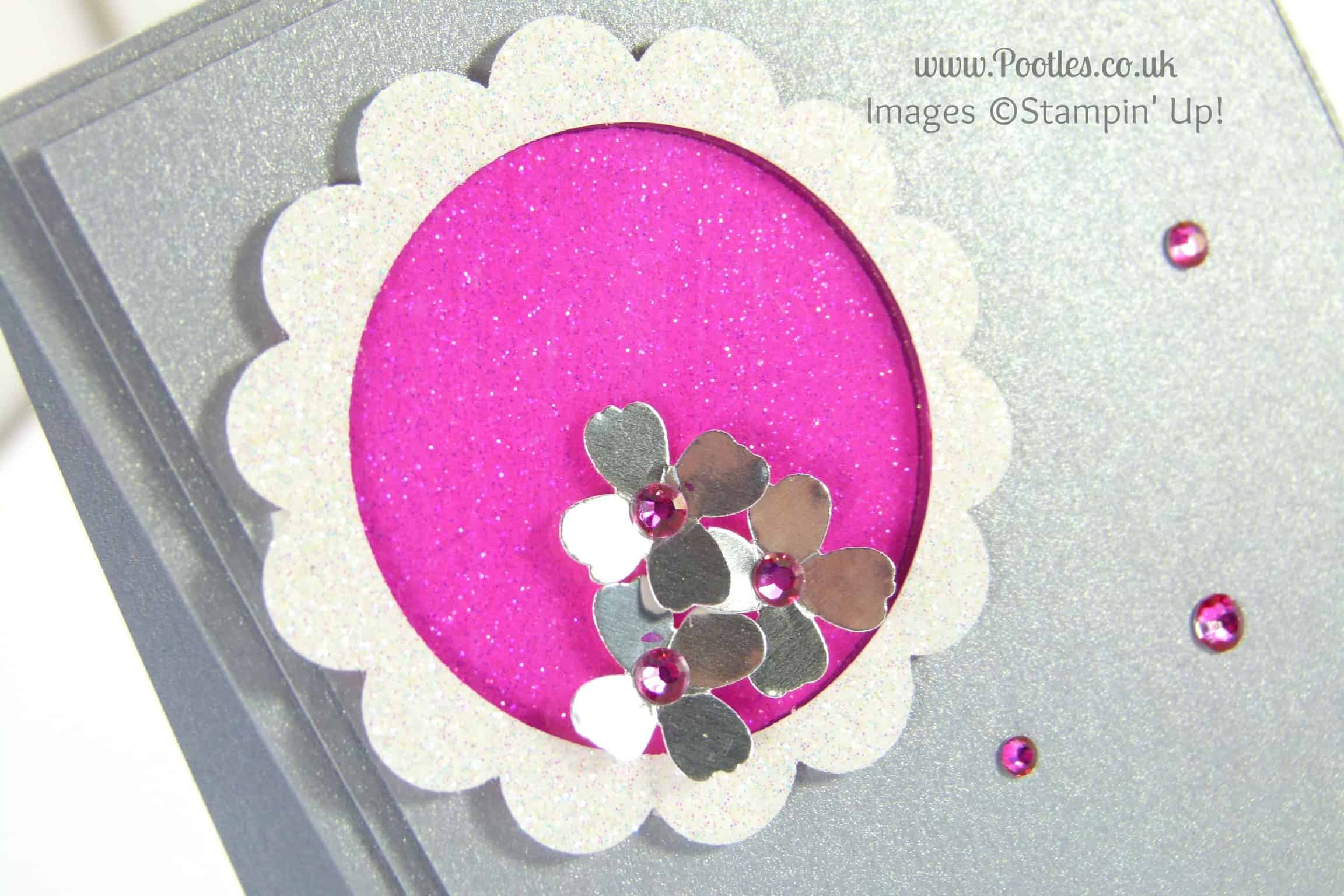 South Hill & Stampin' Up! Coloured Glimmer Paper Cheat Tutorial Close Up