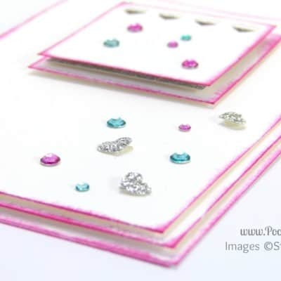 South Hill & Stampin Up on Sunday Pink & Blue Hearts Card Tutorial