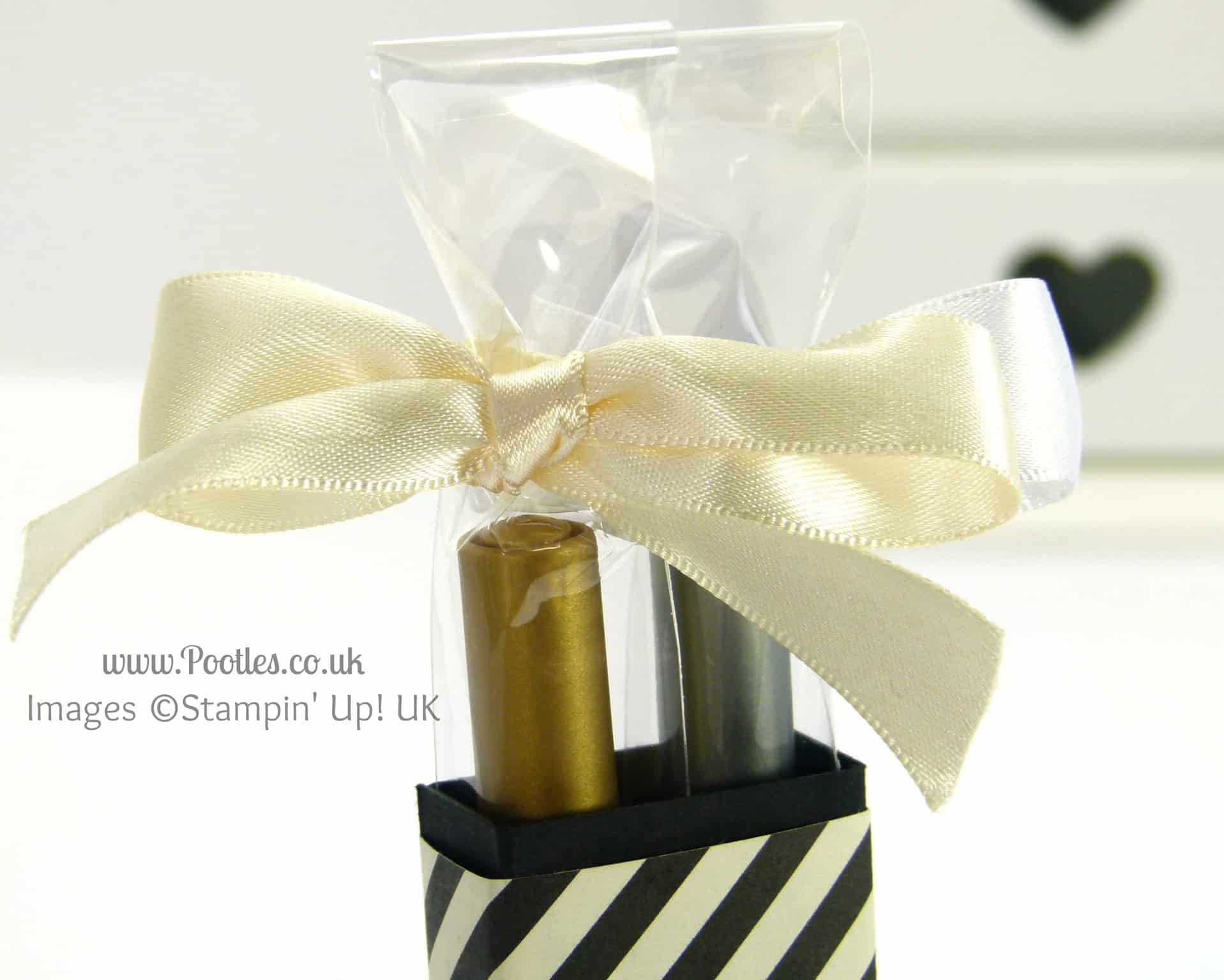 Stampin' Up! UK Demonstrator Pootles - 2 Pen Gift Box Tutorial AND GIVEAWAY! Close Up