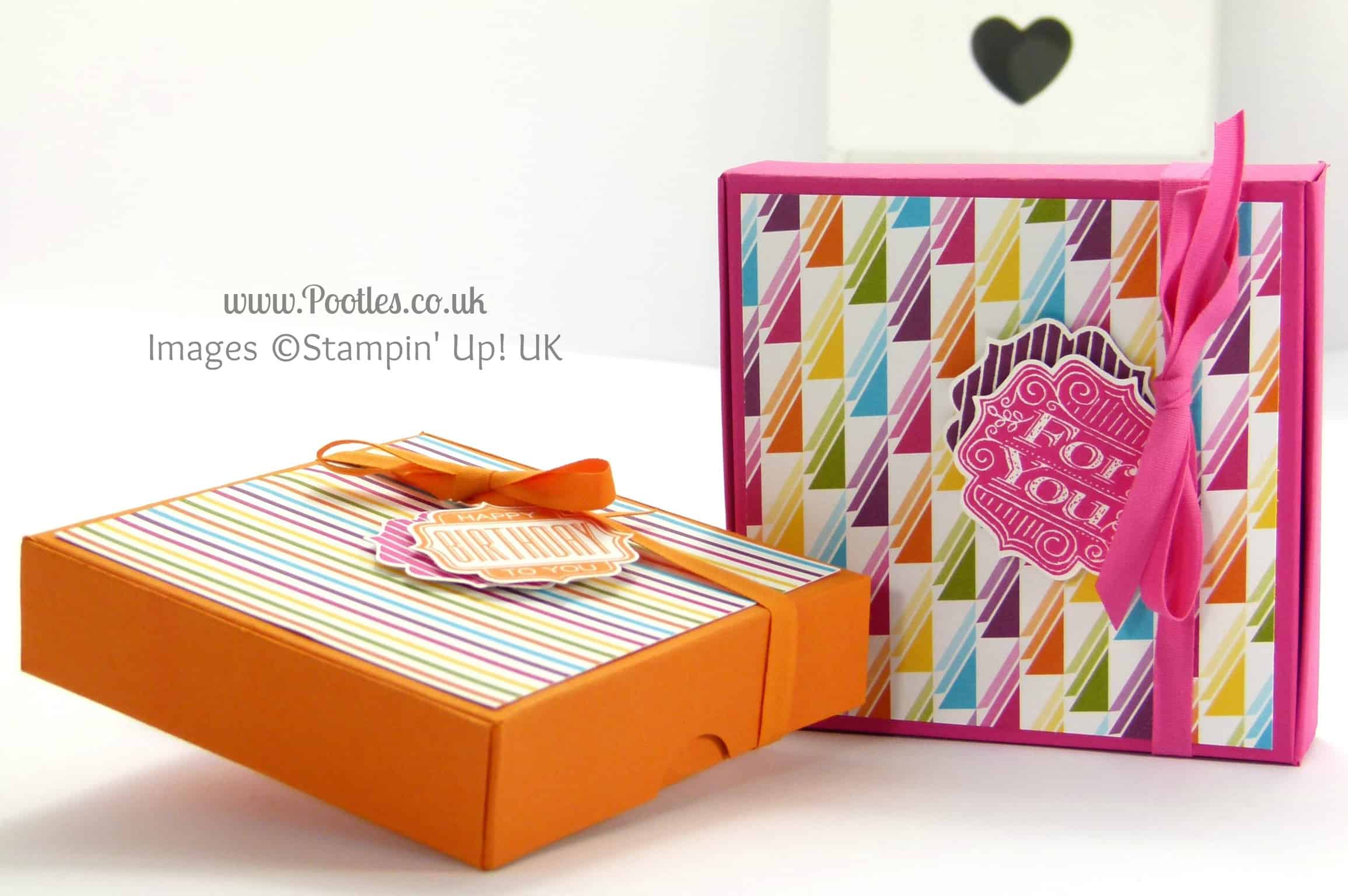 Stampin' Up! UK Demonstrator Pootles - 4x4 Traditional Pizza Box Tutorial