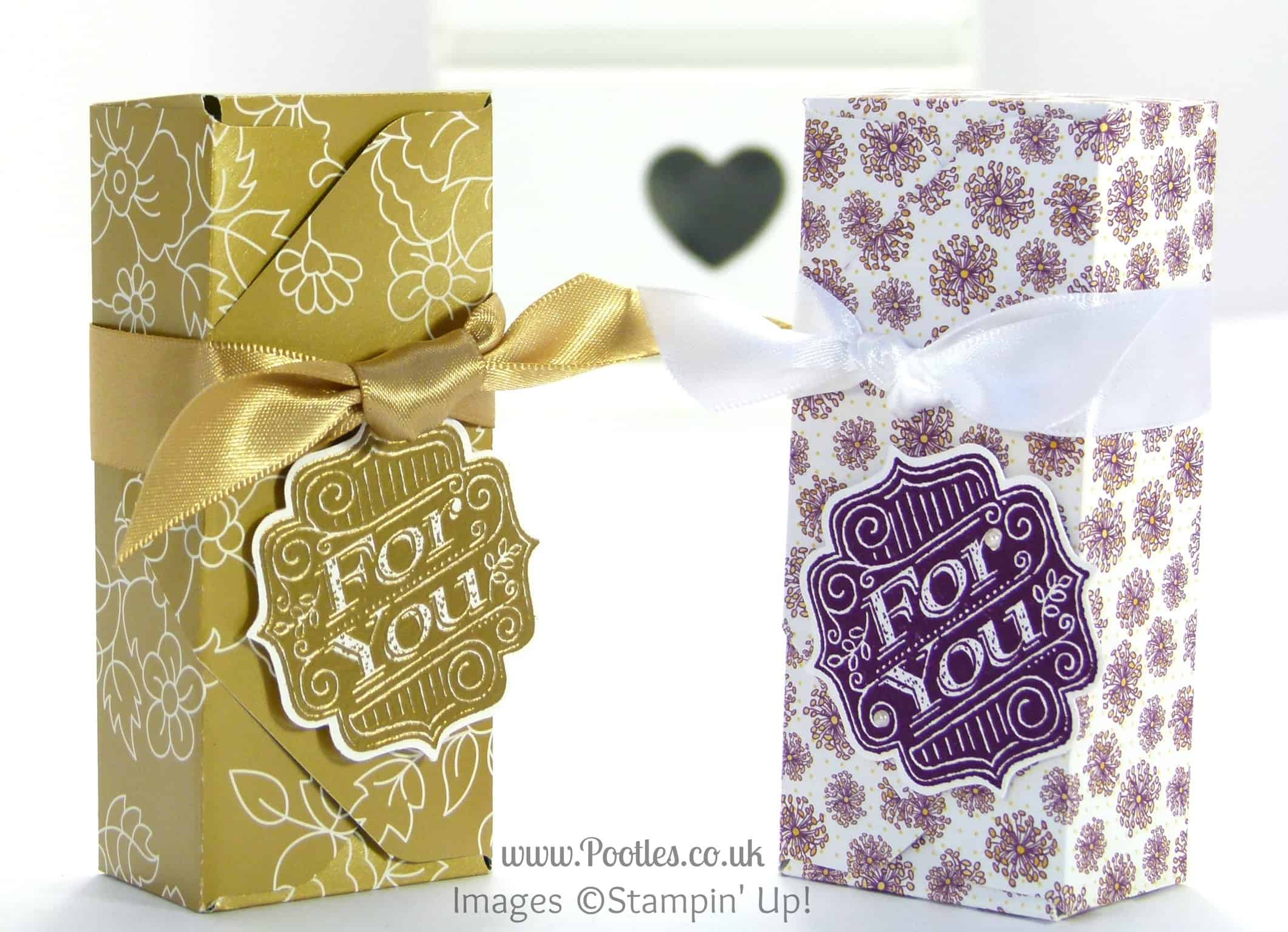 Stampin' Up! UK Demonstrator Pootles - 6x6 Envelope Punch Board Box Tutorial