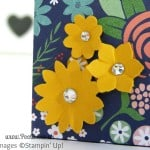 Stampin' Up! UK Demonstrator Pootles - 6x6 Paper Box Bag Tutorial Boho Blossoms Punch Detail
