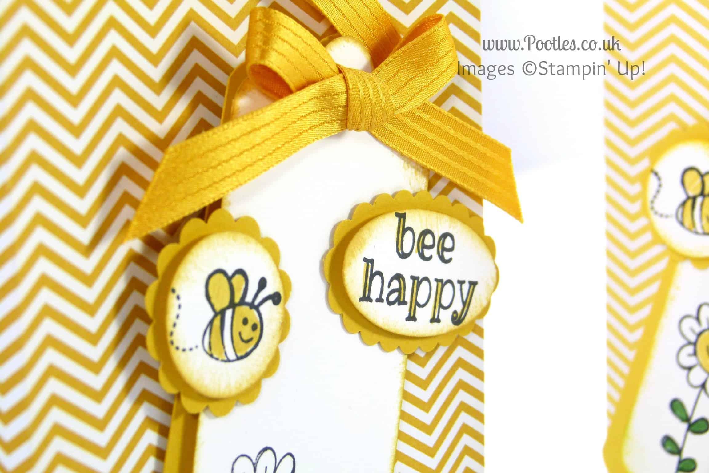 Stampin' Up! UK Demonstrator Pootles - Bee Happy Bag Tutorial Stampin Detail