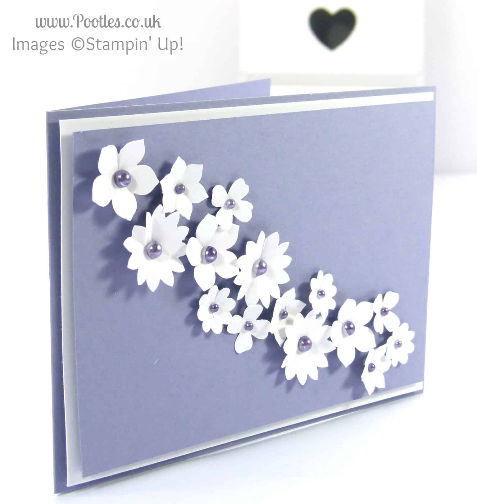 Blendabilities and Pearls on a Wedding Cake Card
