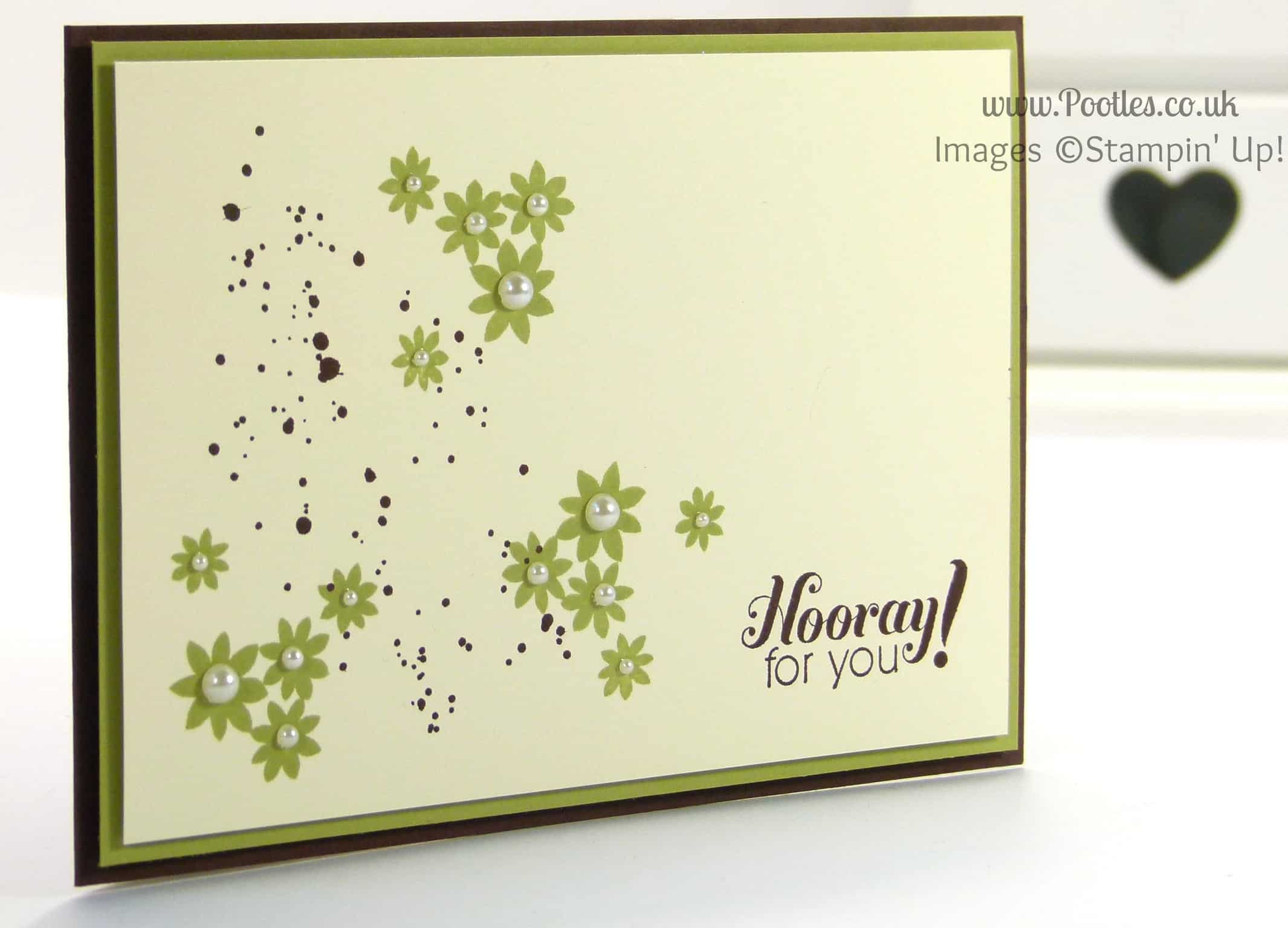 Stampin' Up! UK Demonstrator Pootles - Chocolate Pear Hooray for You!