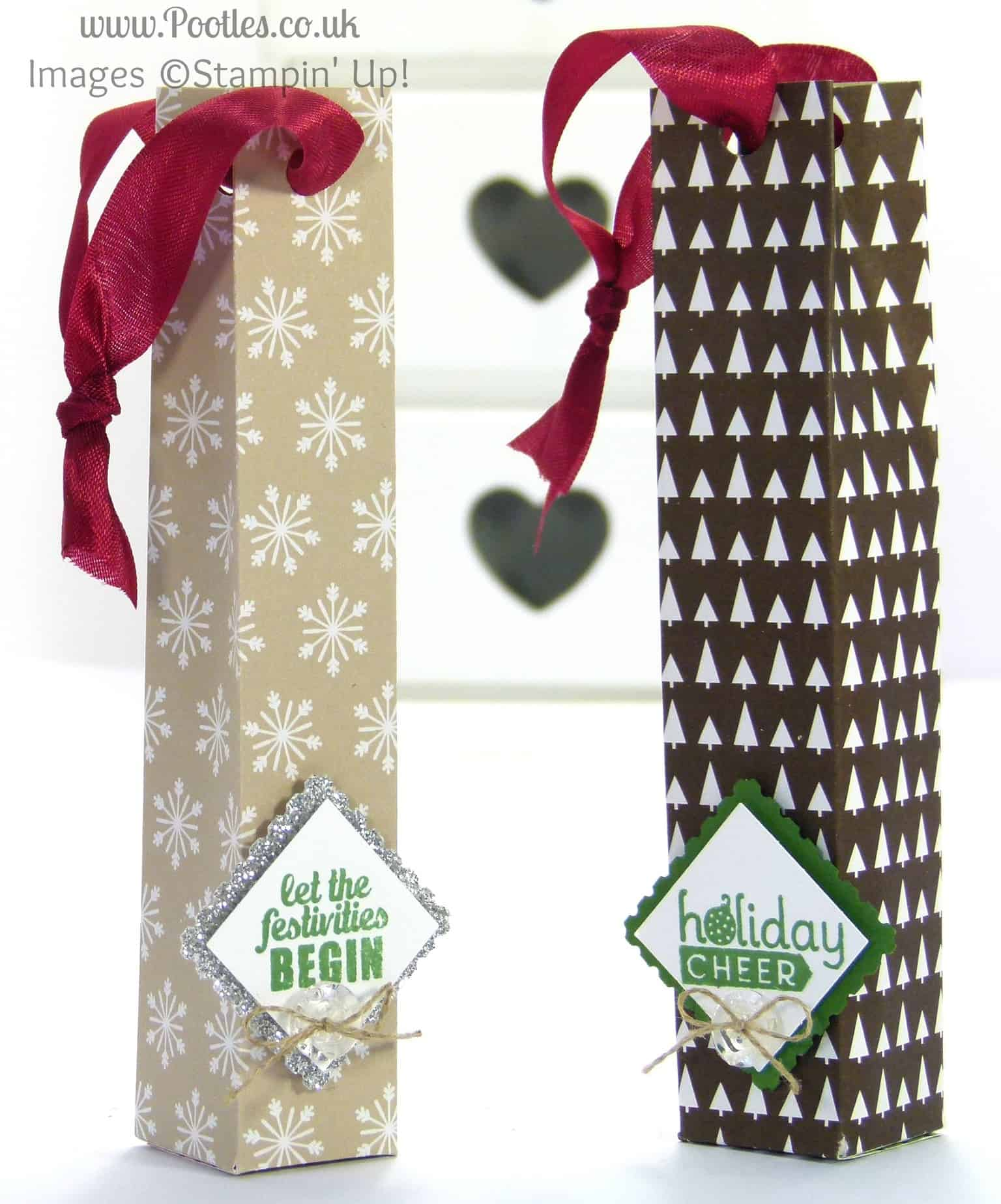 Stampin' Up! UK Demonstrator Pootles - Christmas Tree Hanging Bag Tutorial