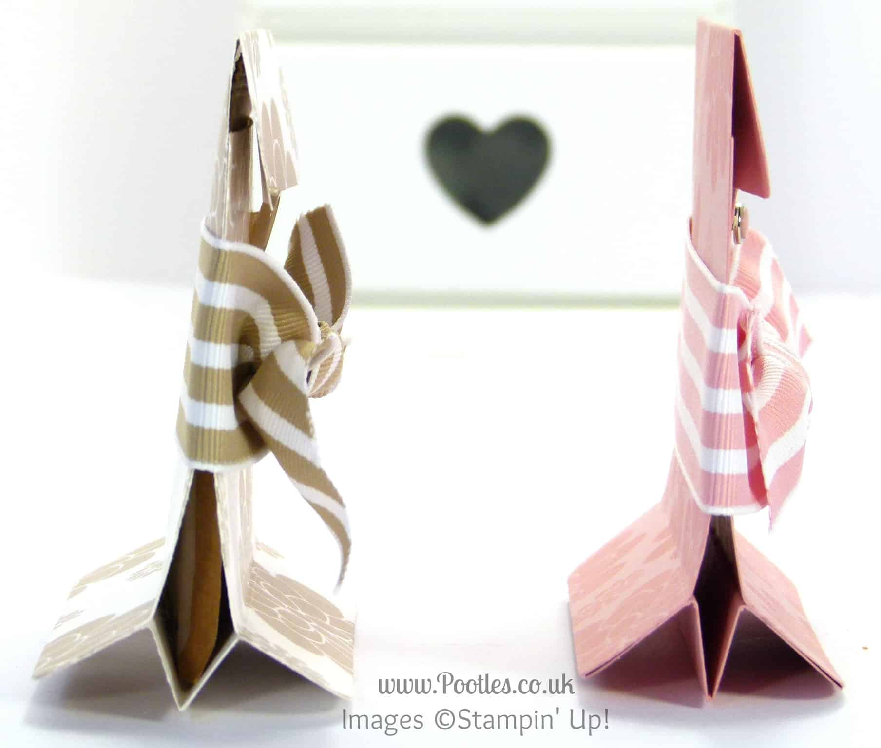 Stampin' Up! UK Demonstrator Pootles - Freestanding Tea Bag Holder Tutorial Side Profile