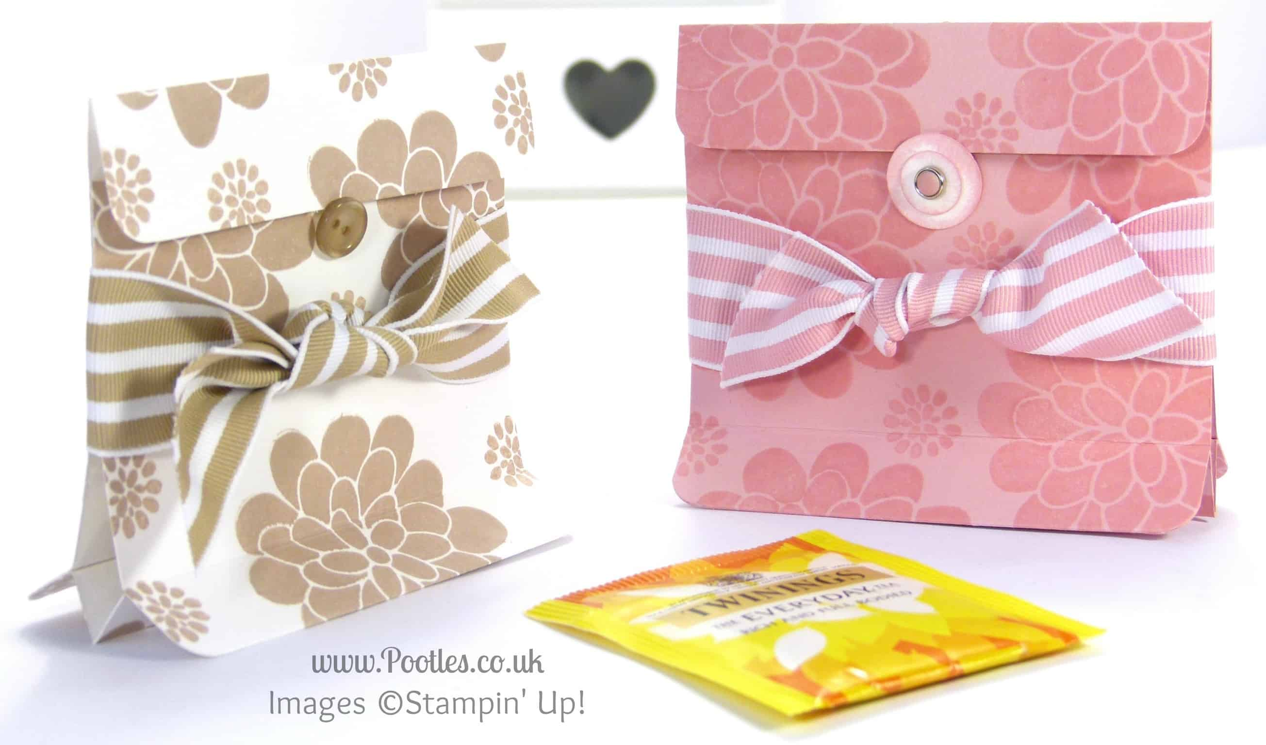 Stampin' Up! UK Demonstrator Pootles - Freestanding Tea Bag Holder Tutorial