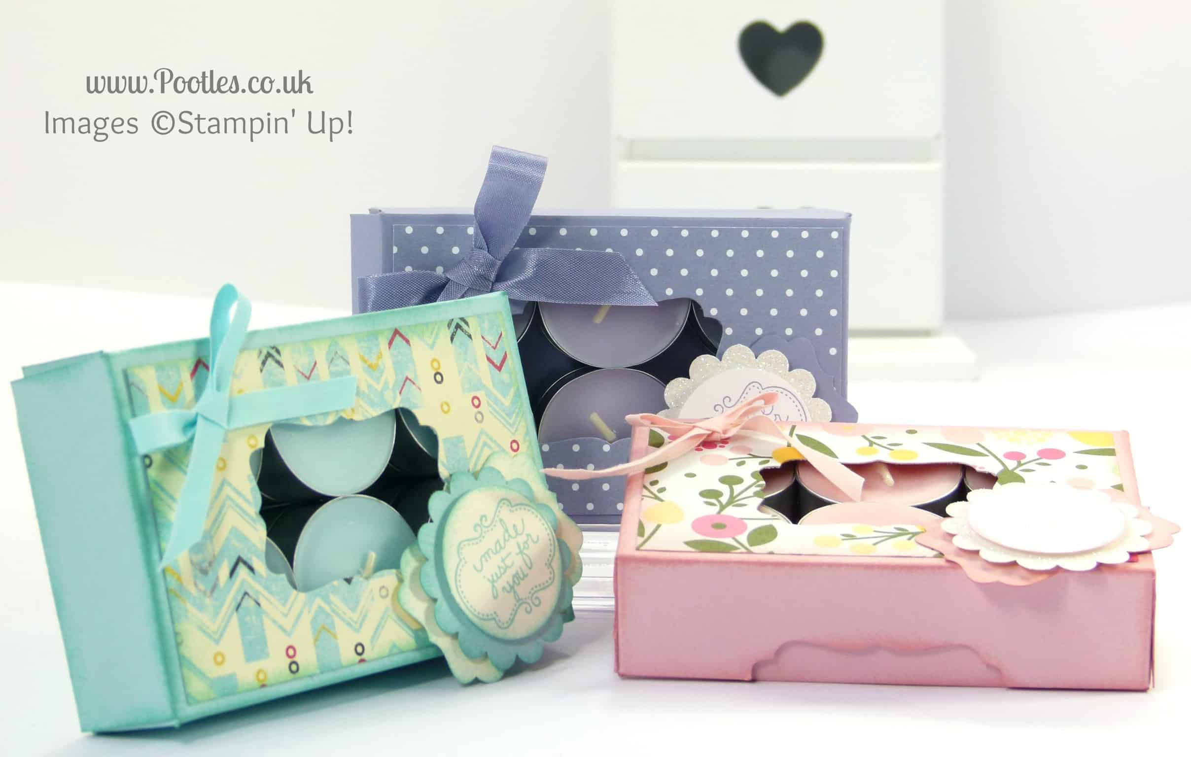 Stampin' Up! UK Demonstrator Pootles - Gorgeous Box for 12 Tea Lights Tutorial