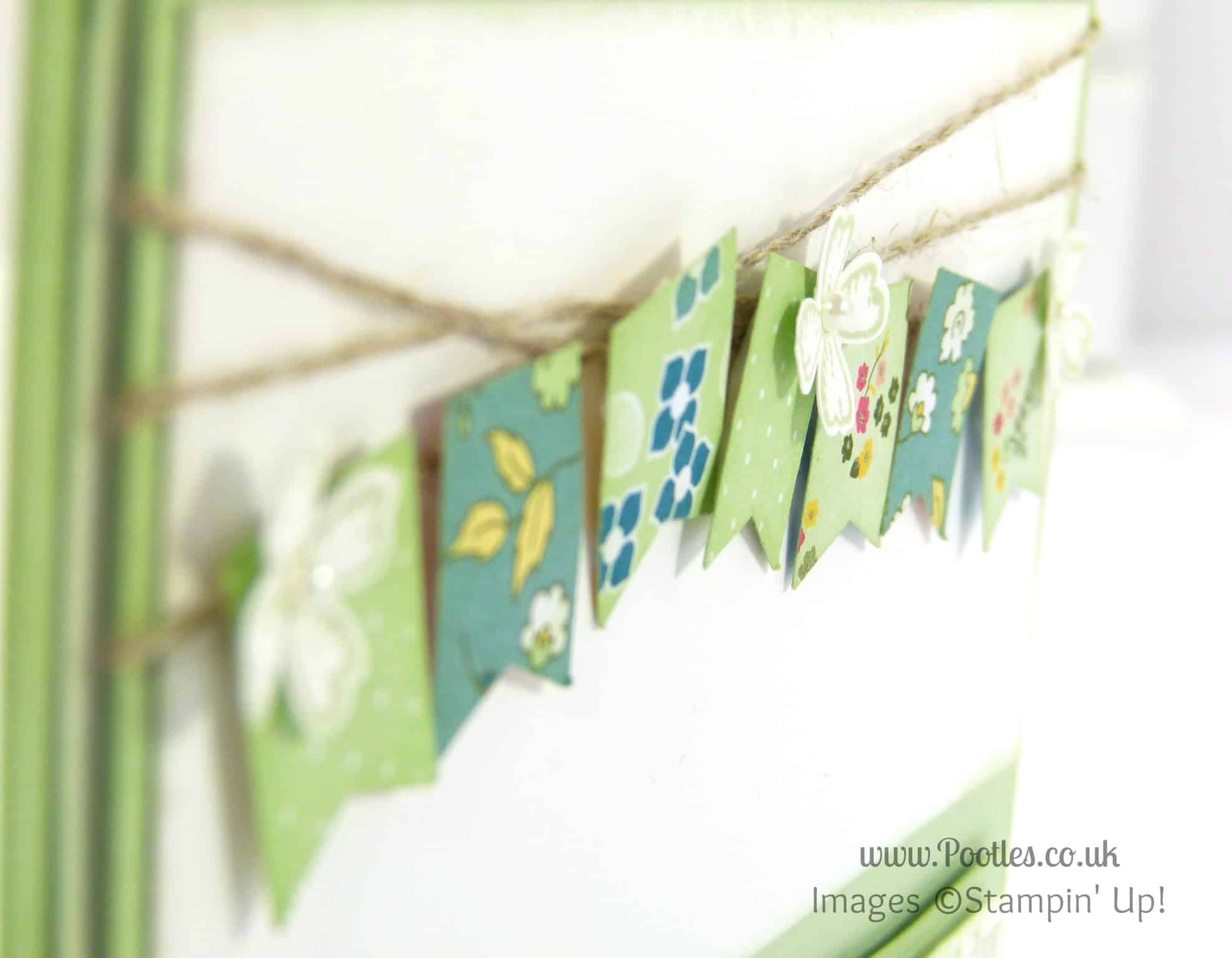 Stampin' Up! UK Demonstrator Pootles - Happy Birthday Mum! Bunting Detail