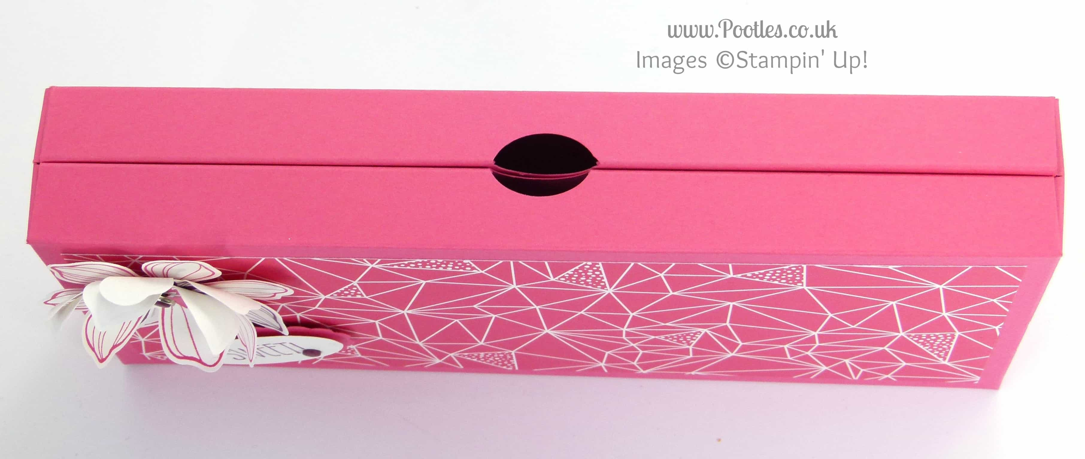 Stampin' Up! UK Demonstrator Pootles - Large Thin Clever Close Box Tutorial Top Closed