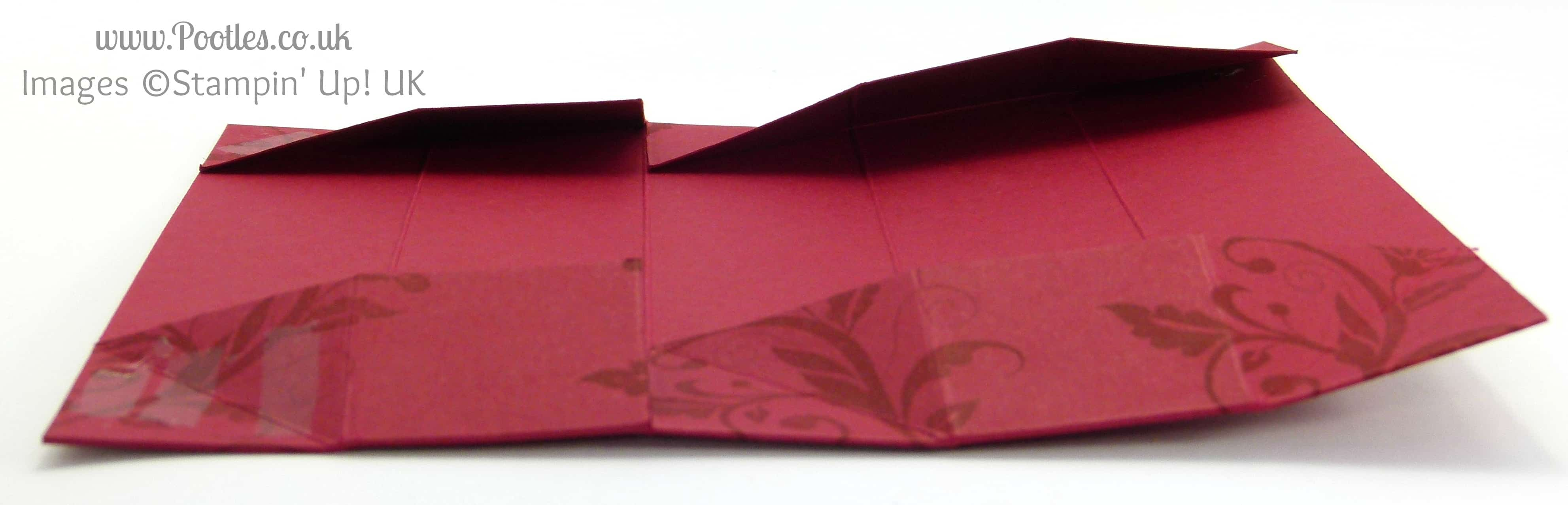 Stampin' Up! UK Demonstrator Pootles - Long Slender Fold Flat Box Tutorial Flattened