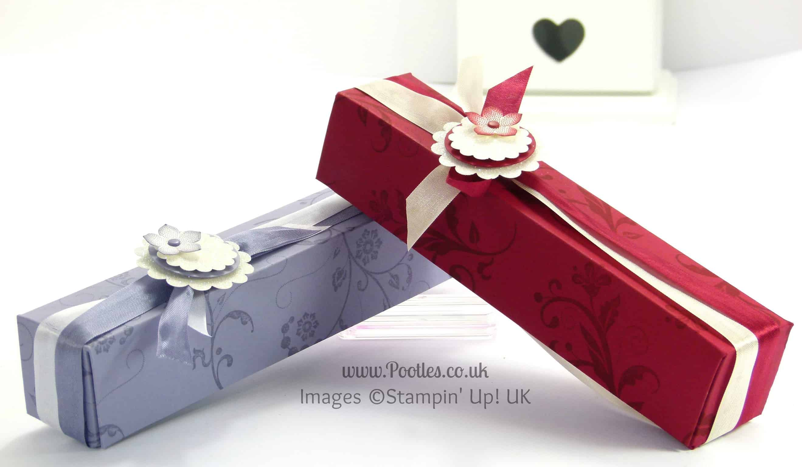 Stampin' Up! UK Demonstrator Pootles - Long Slender Fold Flat Box Tutorial