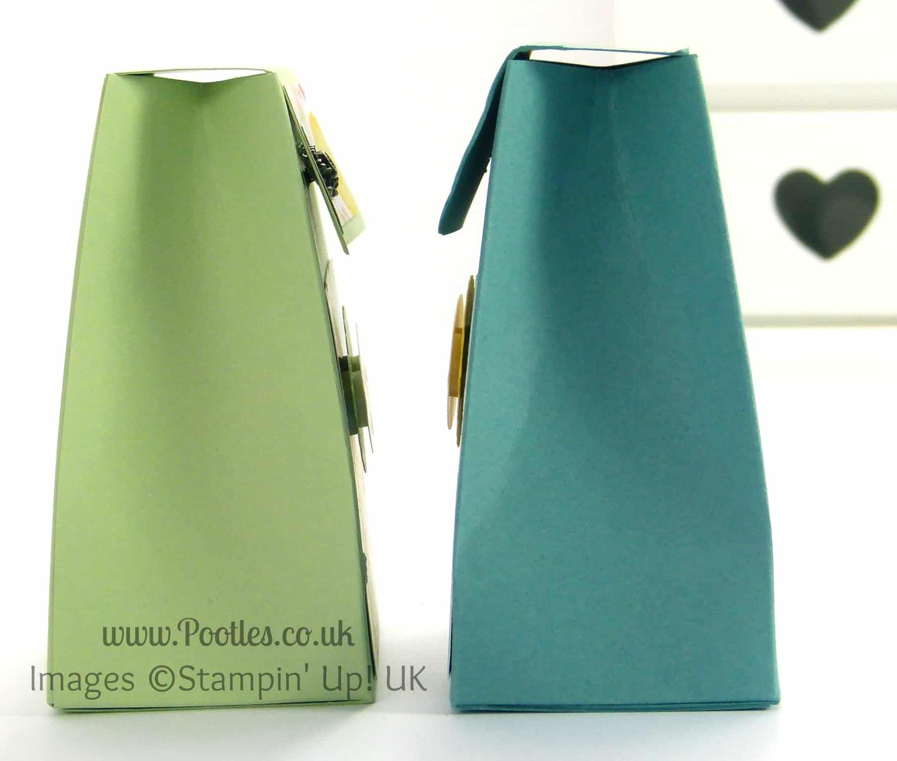 Stampin' Up! UK Demonstrator Pootles - Pinch Close Flat Topped Box Tutorial Side Profile