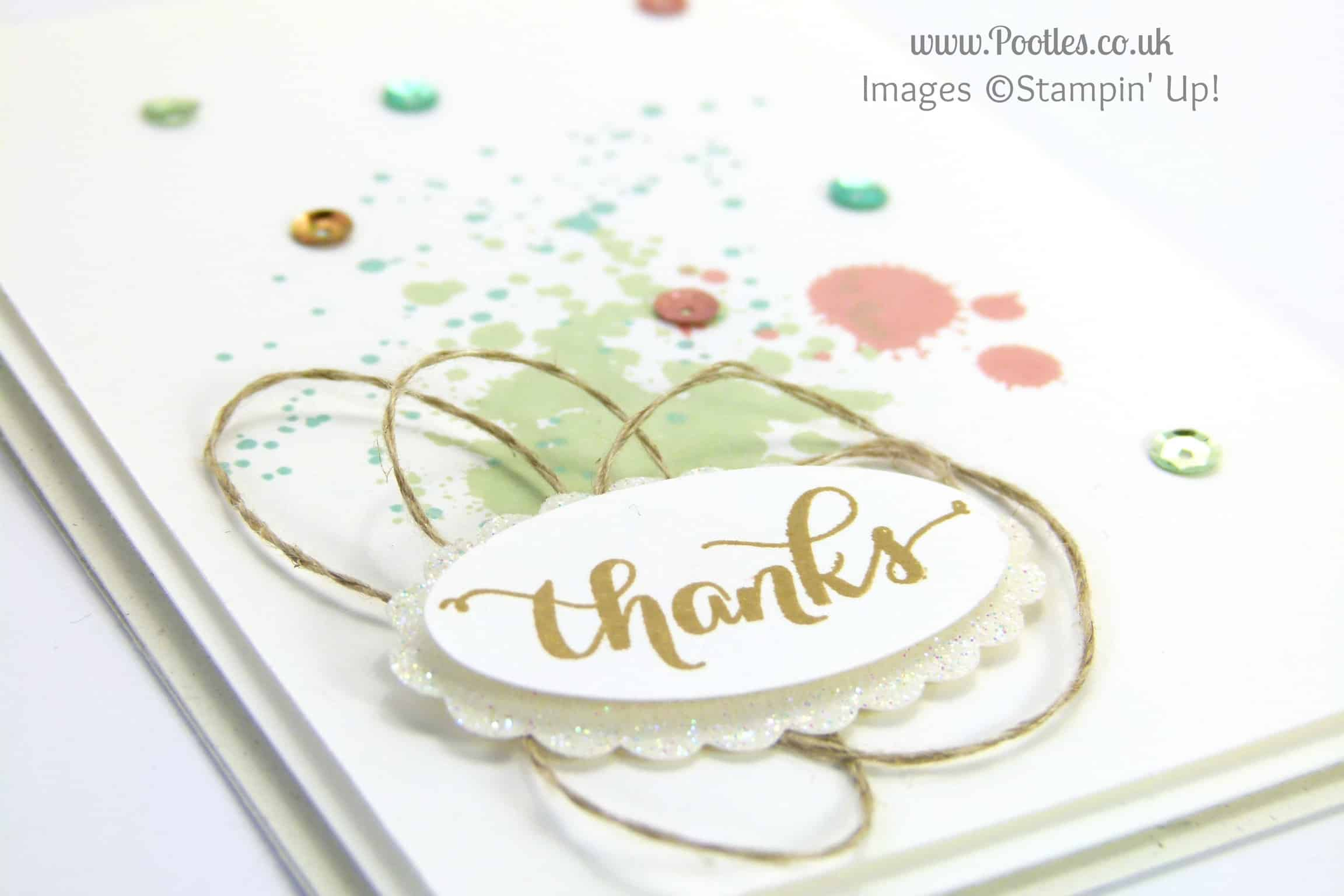 Stampin' Up! UK Demonstrator Pootles - Simple Sprinkles of Thanks! close up