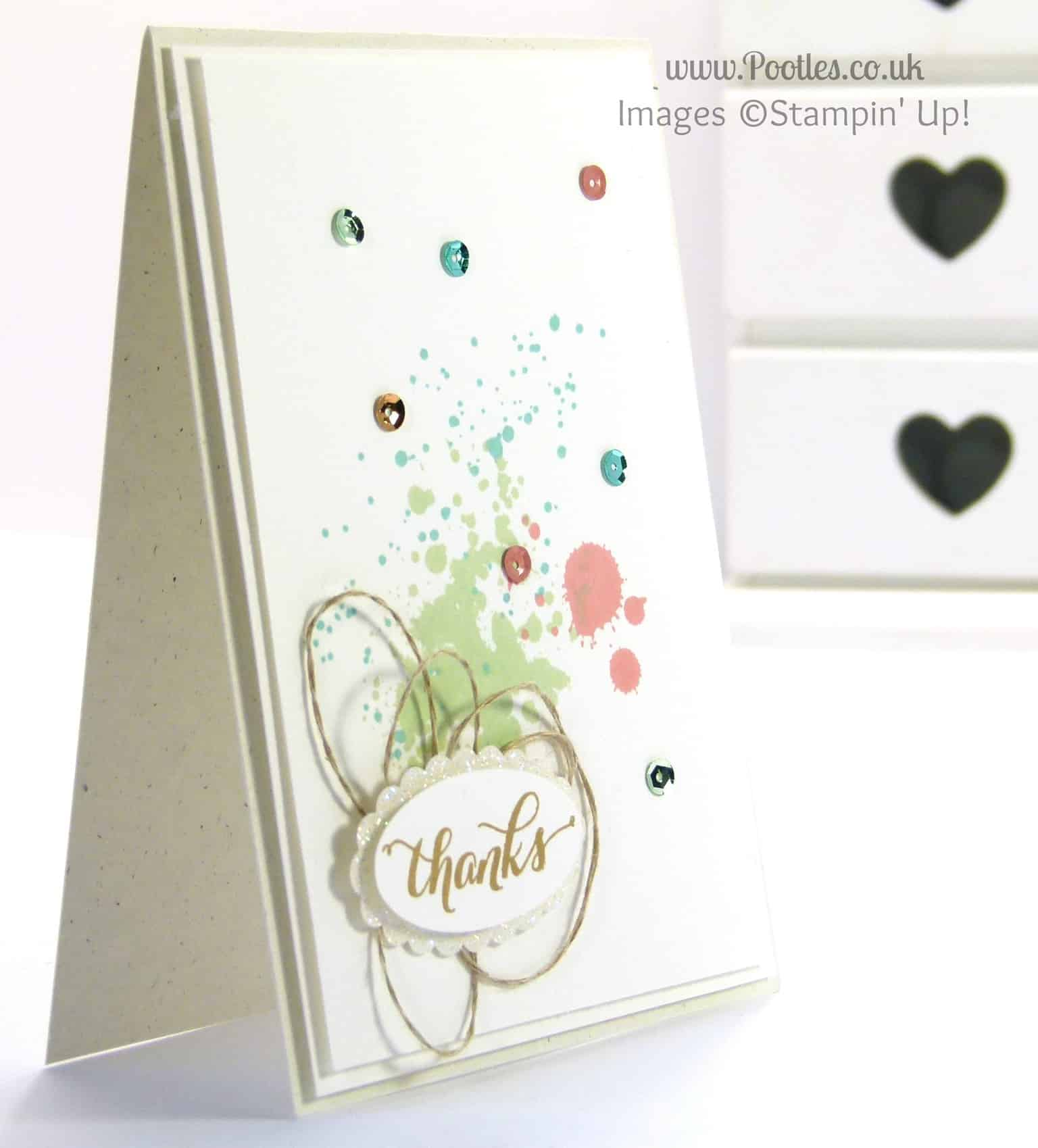 Stampin' Up! UK Demonstrator Pootles - Simple Sprinkles of Thanks!