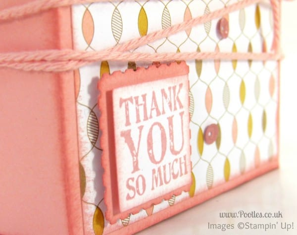 Fold Flat Box Tutorial for 3x3 Cards & Envelopes stamped detail