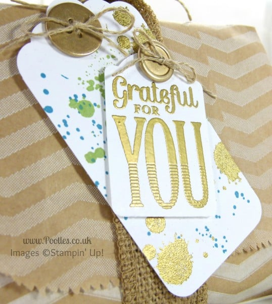 South Hill & Stampin Up Sunday Crystal Wrap Packaging Tutorial Tag Detail