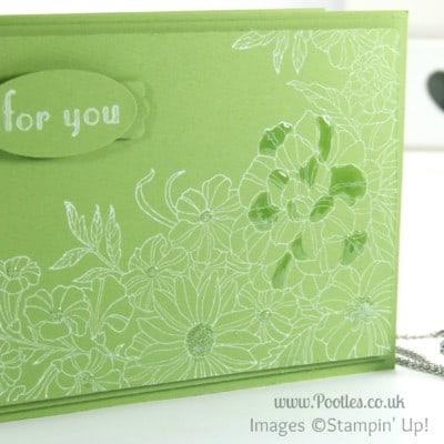 South Hill Designs & Stampin Up Sunday Green White Florals