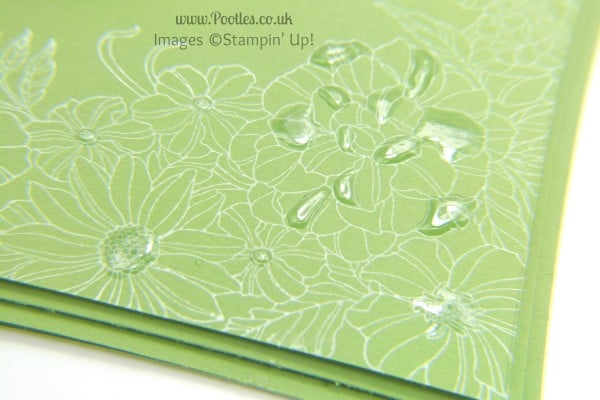 South Hill & Stampin Up Sunday Green White Florals Close Up