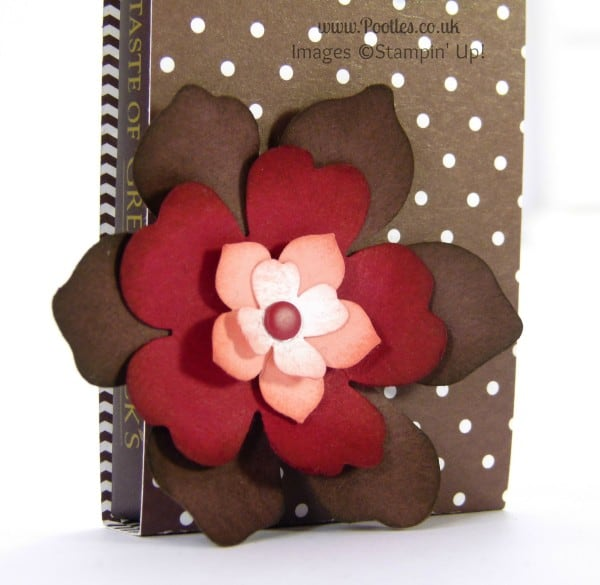Stampin' Up! Demonstrator Pootles - Green and Blacks Chocolate Pouch Tutorial Flower Punch Detail