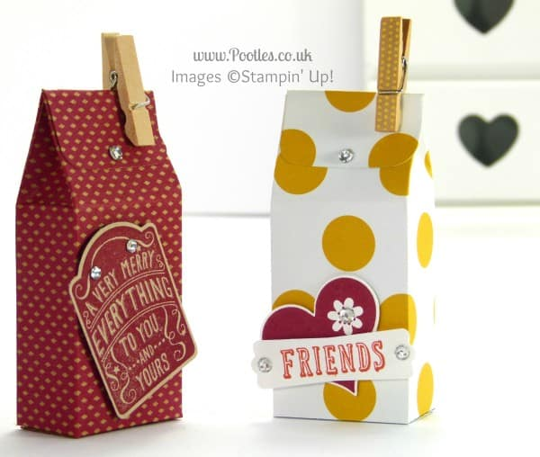 Stampin' Up! UK Demonstrator Pootles - 6x6 Mini Soap Box Tutorial + Clothespeg blooper alert...
