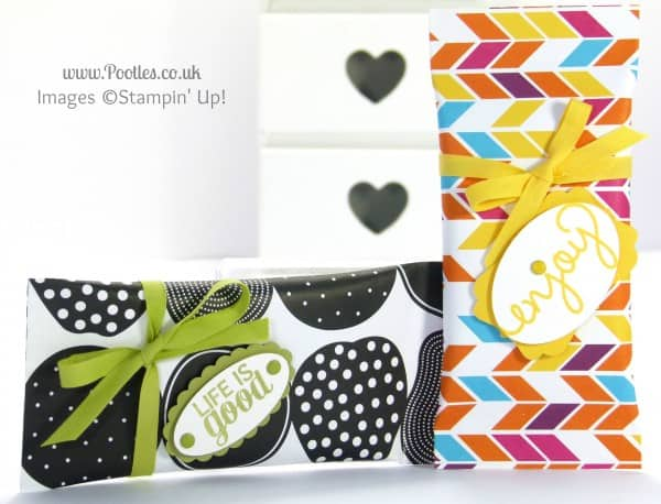 Stampin' Up! UK Demonstrator Pootles - 6x6 Sweetie Pouch Tutorial