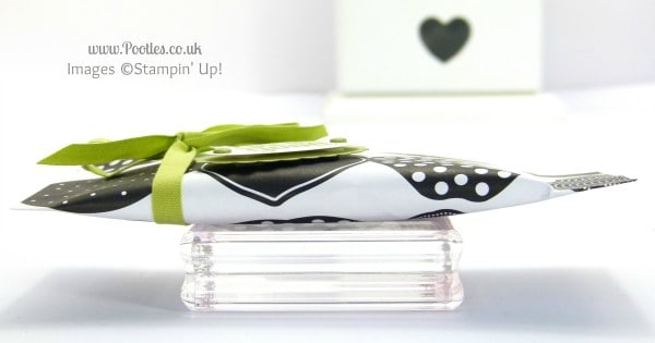 Stampin' Up! UK Demonstrator Pootles - 6x6 Sweetie Pouch Tutorial Side Profile