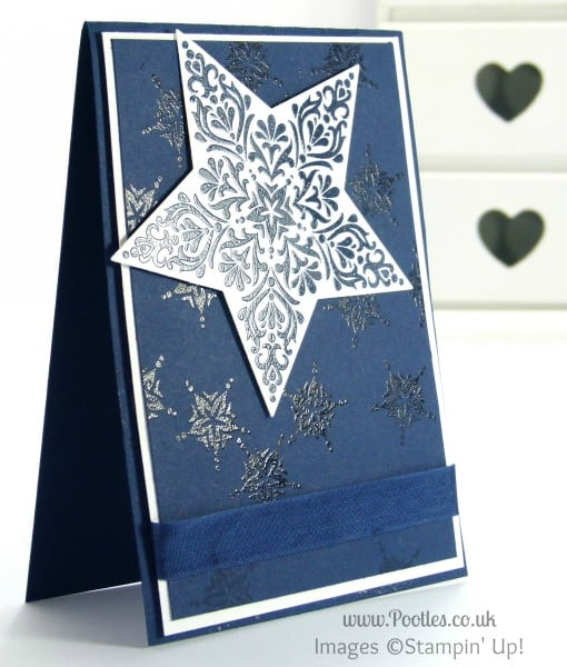 Stampin' Up! UK Demonstrator Pootles - Bright and Beautiful Star Card for Chaps Perhaps...