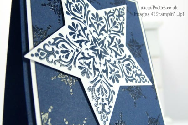 Stampin' Up! UK Demonstrator Pootles - Bright and Beautiful Star Card for Chaps Perhaps... embossing detail