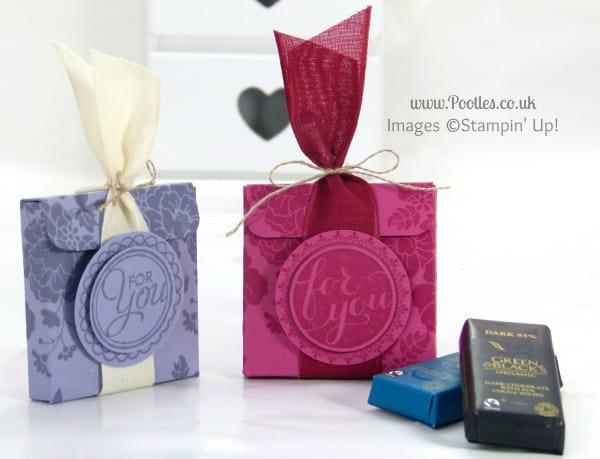 Stampin' Up! UK Demonstrator Pootles - Chocolate Treat Box Tutorial