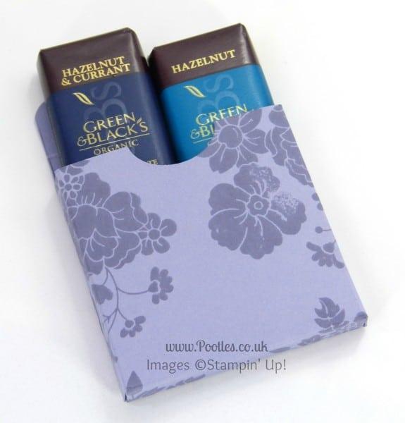 Stampin' Up! UK Demonstrator Pootles - Chocolate Treat Box Tutorial Open