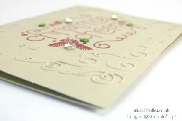 Stampin' Up! UK Demonstrator Pootles - Christmas Cheer Catalogue Copy!!! embossing folder detail
