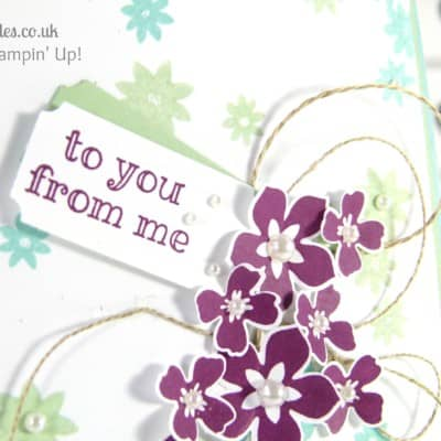 Crazy Colour Floral Card