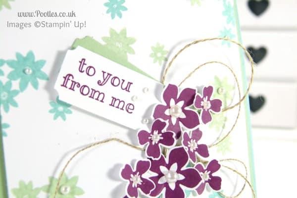 Stampin' Up! UK Demonstrator Pootles - Crazy Colour Floral Card Close Up