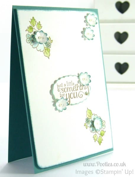Stampin' Up! UK Demonstrator Pootles - Hello Darling Card using Blender Pens
