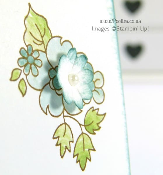 Stampin' Up! UK Demonstrator Pootles - Hello Darling Card using Blender Pens close up detail