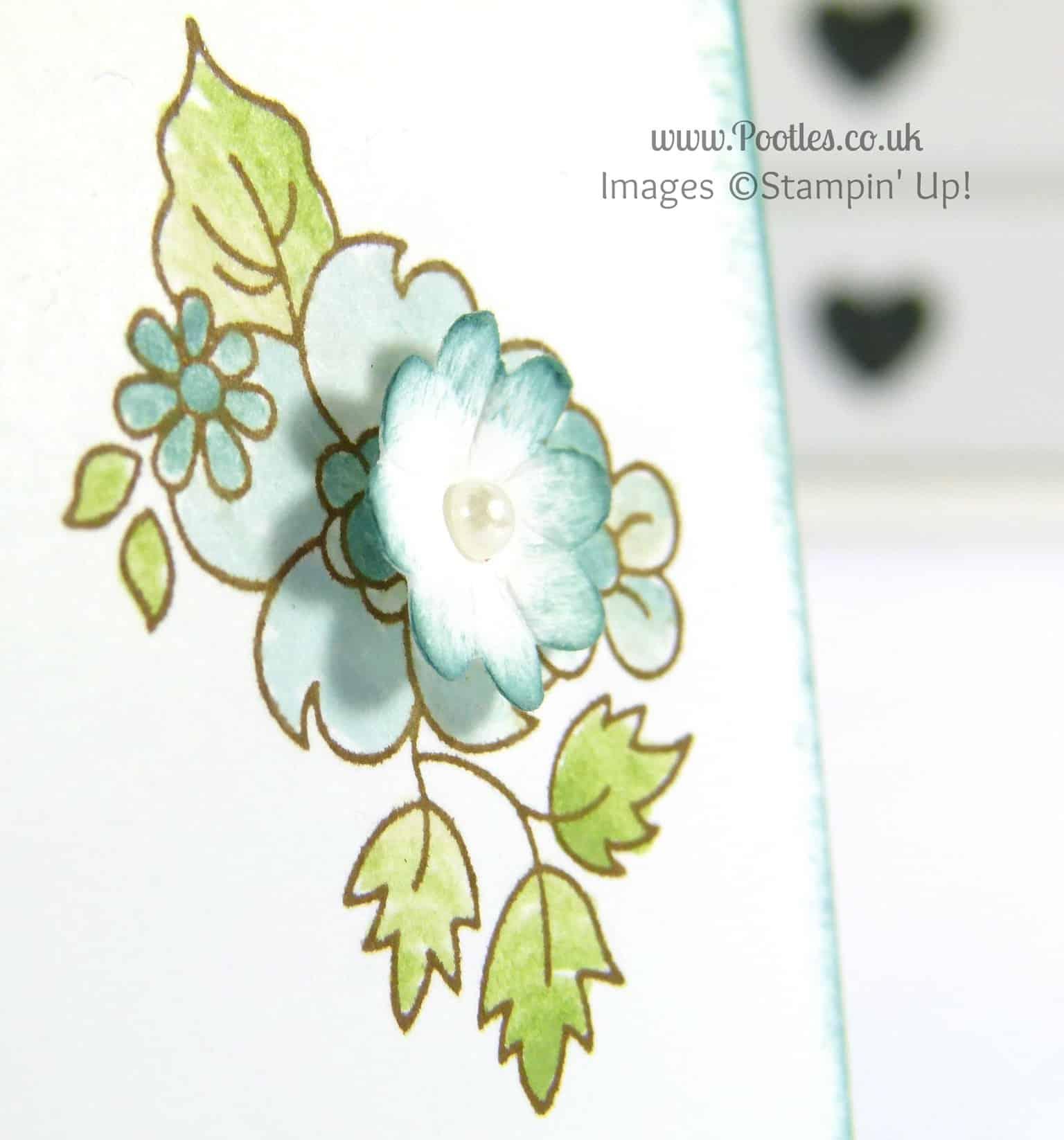 Hello Darling Stampin' Up! Card using Blender Pens