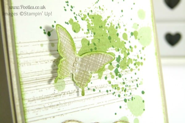 Stampin' Up! UK Demonstrator Pootles - Kinda Eclectic Gorgeous Grunge butterfly detail