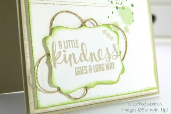 Stampin' Up! UK Demonstrator Pootles - Kinda Eclectic Gorgeous Grunge sentiment detail