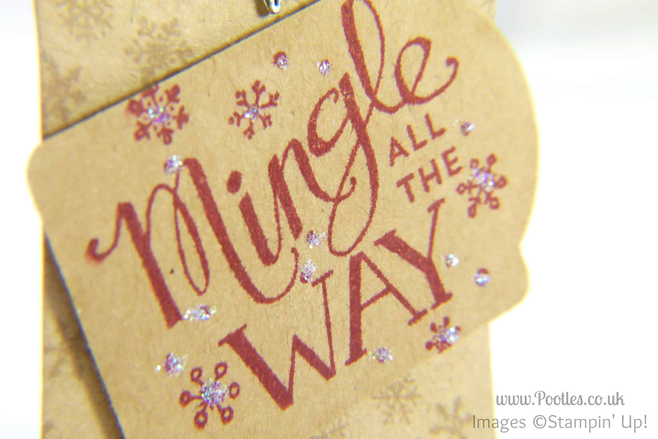 Mingle All The Way Handmade Gift Tag