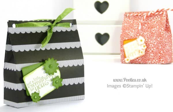 Stampin' Up! UK Demonstrator Pootles - Monochrome Paper Bag Tutorial