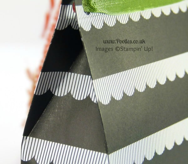 Stampin' Up! UK Demonstrator Pootles - Monochrome Paper Bag Tutorial Extra Score Lines