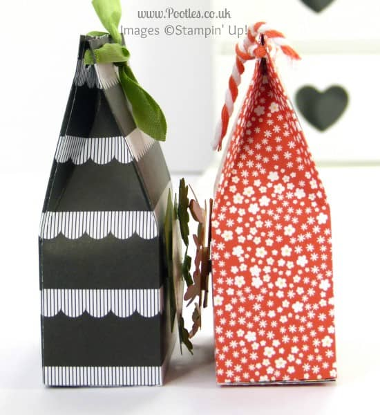 Stampin' Up! UK Demonstrator Pootles - Monochrome Paper Bag Tutorial side profile