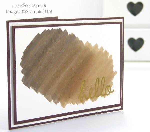 Stampin' Up! UK Demonstrator Pootles - Simplicity of Scribbling Blendabilities...