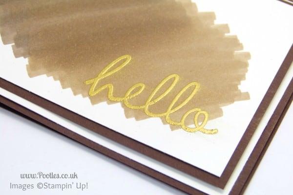 Stampin' Up! UK Demonstrator Pootles - Simplicity of Scribbling Blendabilities... Heat Embossing Detail