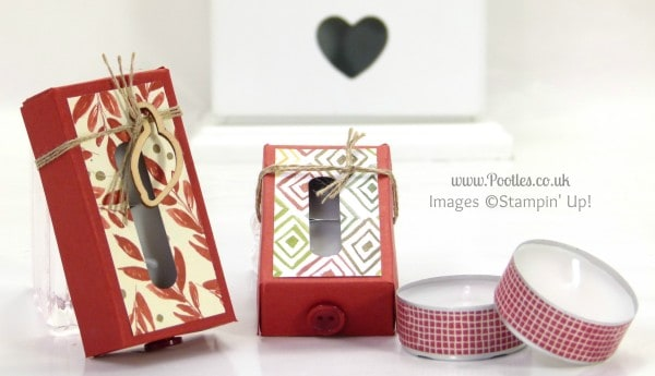 Stampin' Up! UK Demonstrator Pootles - Tiny Tealight Box Tutorial