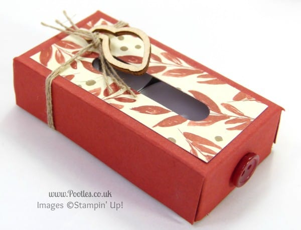 Stampin' Up! UK Demonstrator Pootles - Tiny Tealight Box Tutorial close up